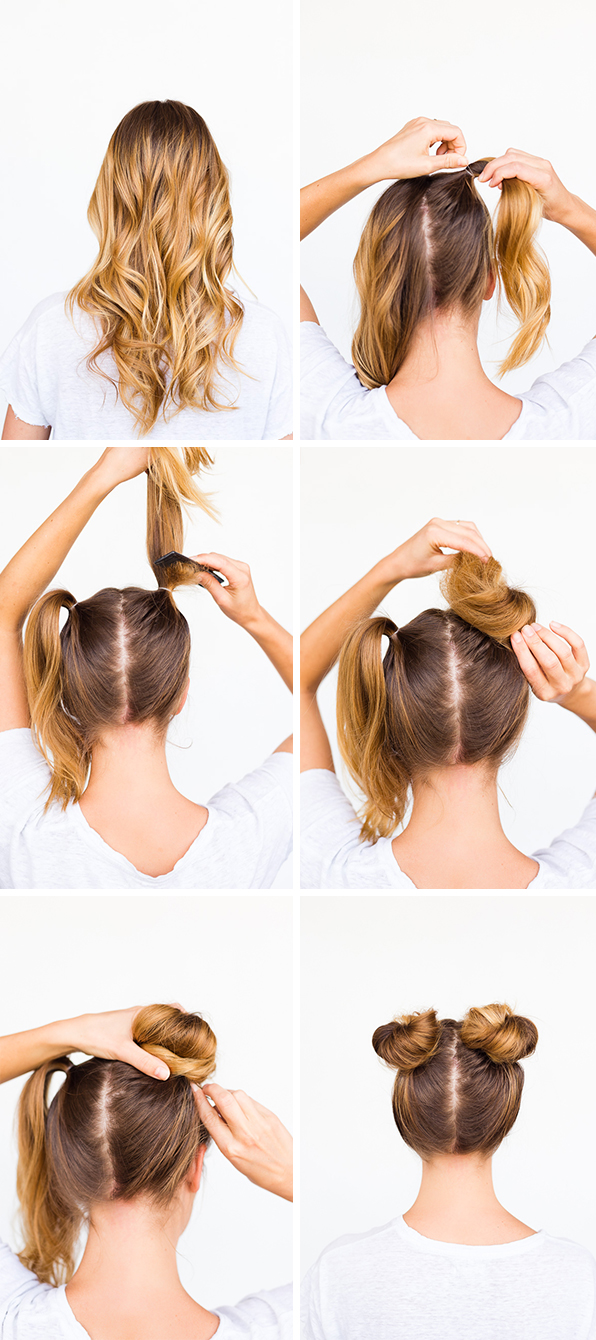 Magnificent Two Buns Are Better Than One Double Bun Hair Tutorial Hairstyles For Men Maxibearus