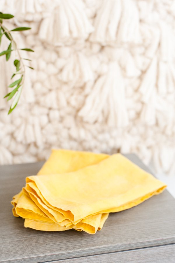 Naturally dyed DIY linen napkins