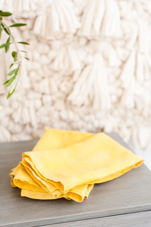 Naturally dyed DIY linen napkins