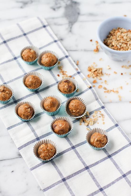organic no-bake energy bites