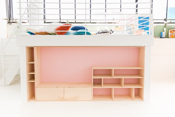 DIY Modern Seating and Storage with Maple Plywood