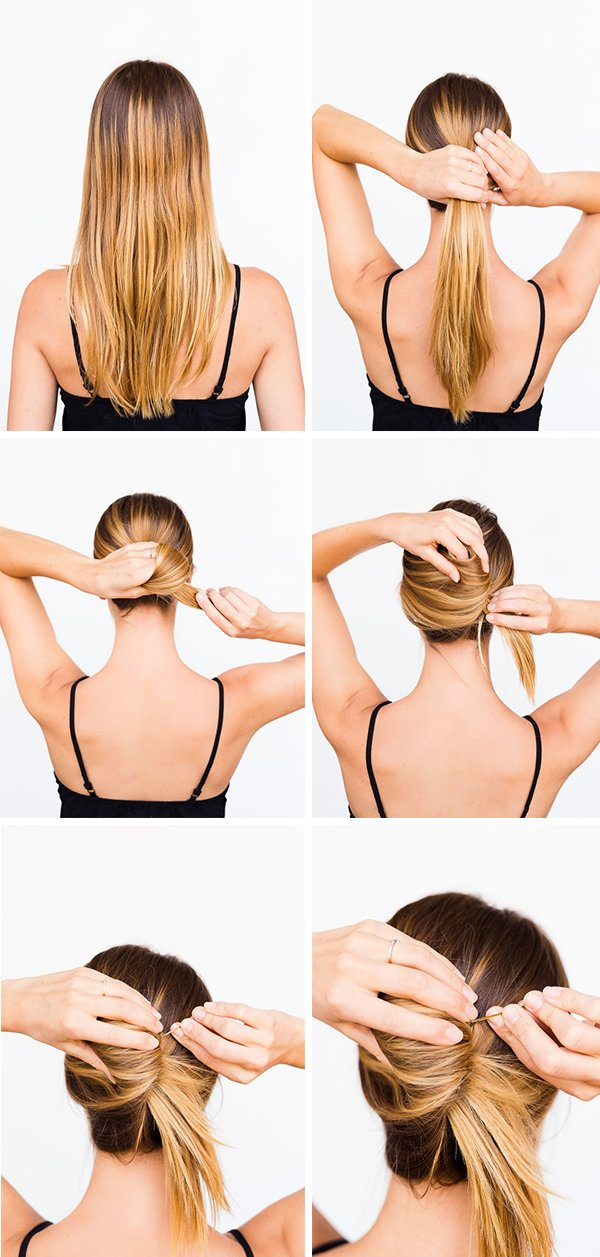 A causal summer french twist in 60 seconds