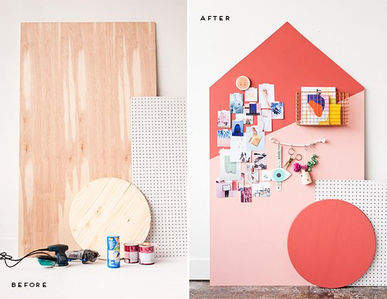 Before + After: How to Make a Giant DIY Mood Board Organizer