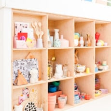 Oh My! It's Made of Ply(Wood): Modern Plywood Shelving Organization for Props