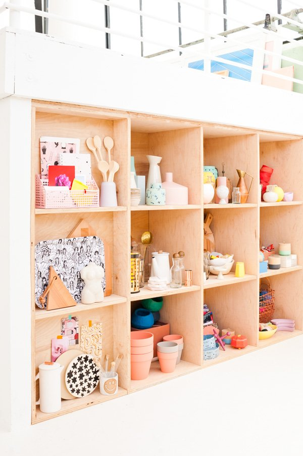 Weekend DIY Idea: How to Create Modern Plywood Shelving Organization