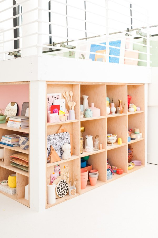 7a879dc227f87 Weekend DIY Idea  How to Create Modern Plywood Shelving Organization