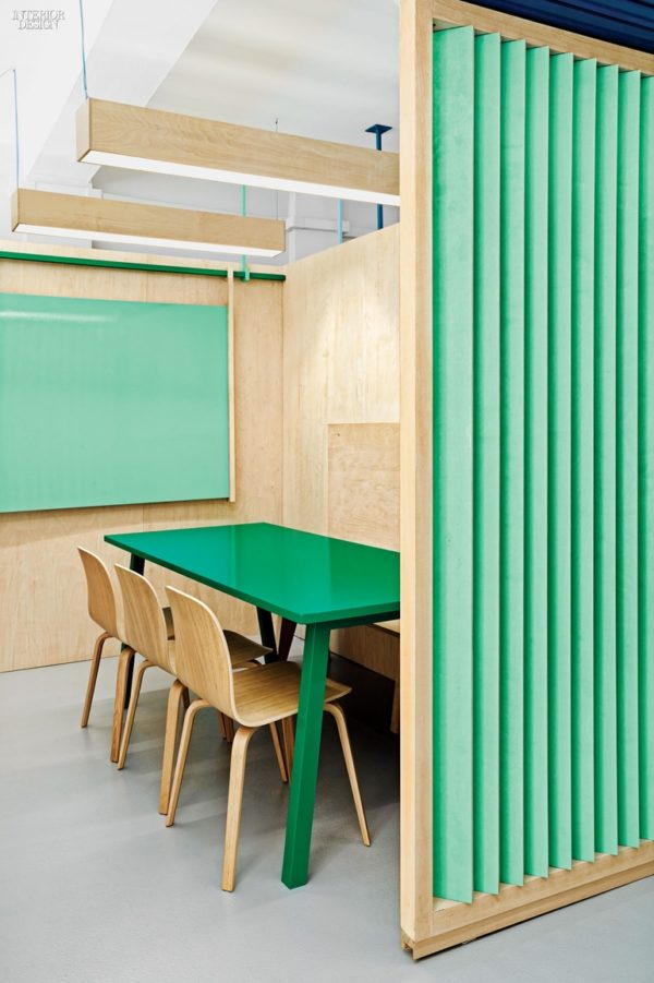 Plywood and mint green