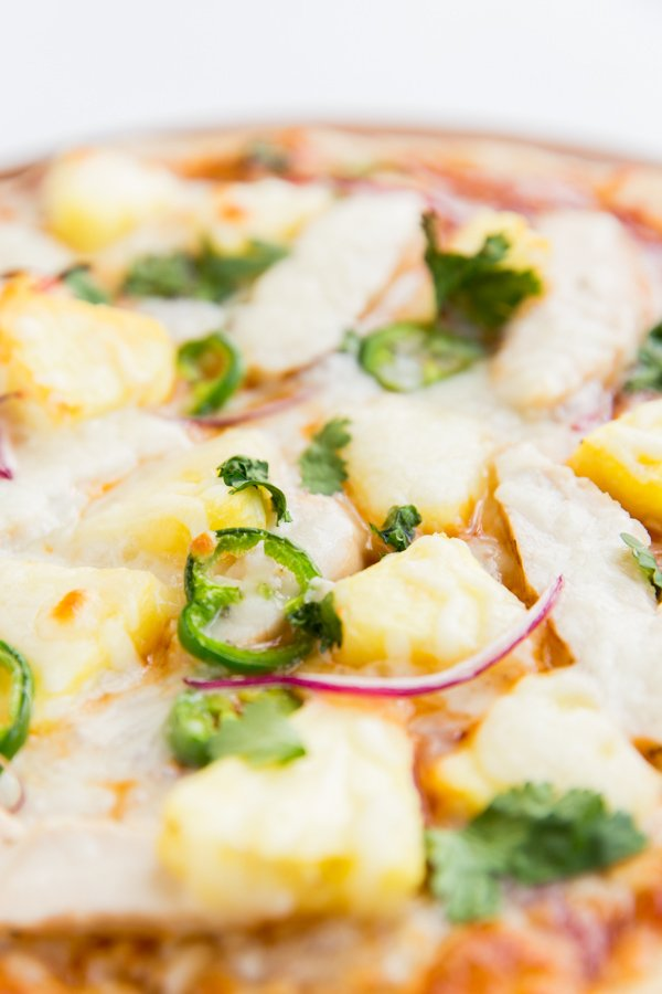 Gimmee Pizza: BBQ Chicken + Pineapple Pizza Recipe (with homemade BBQ ...