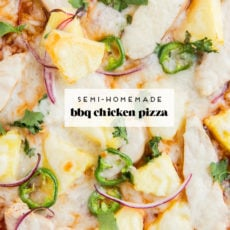 Gimmee Pizza: BBQ Chicken + Pineapple Pizza Recipe (with homemade BBQ sauce)