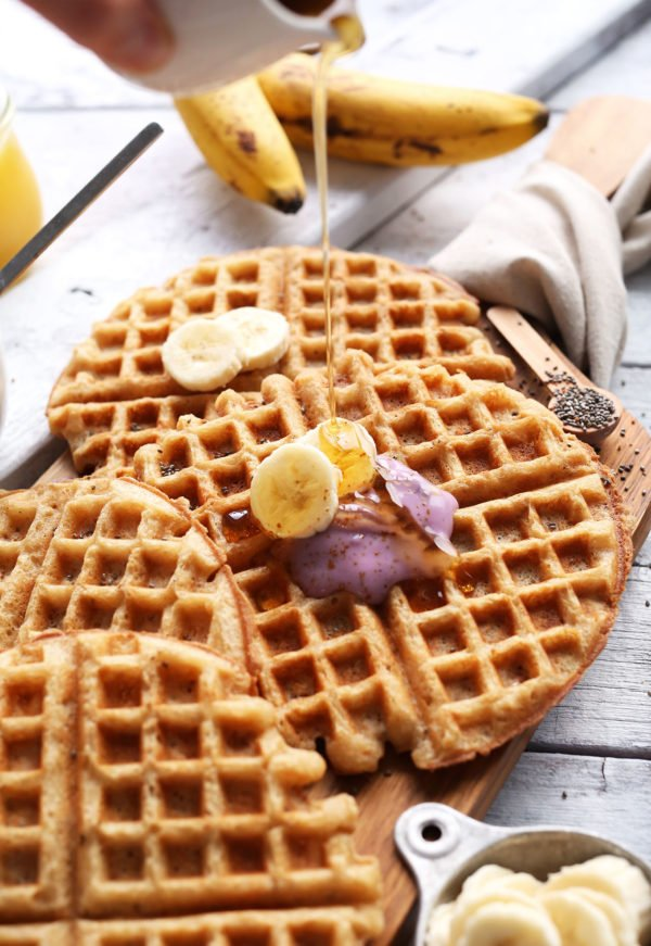 coconut yogurt waffles