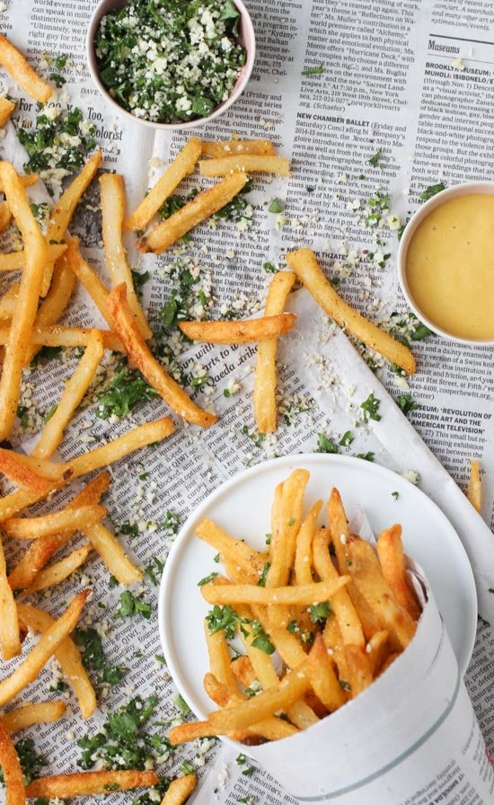 lemon and herb fries