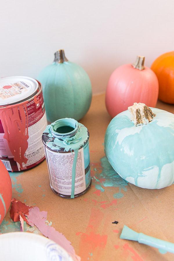 Watercolor pumpkins DIY