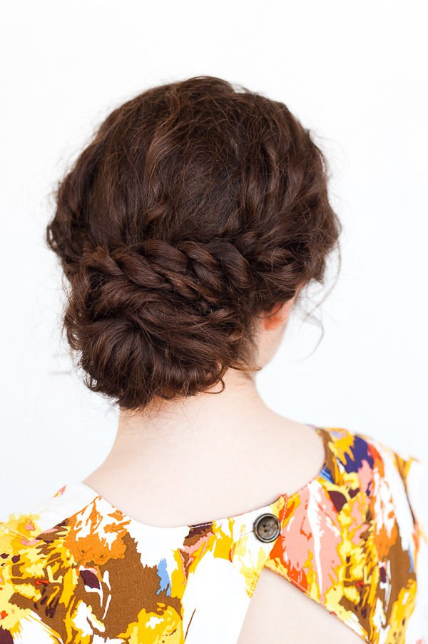 A Rope Twist Updo For Curly Hair In 5 Minutes Paper And