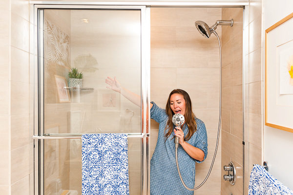 Singing in the shower
