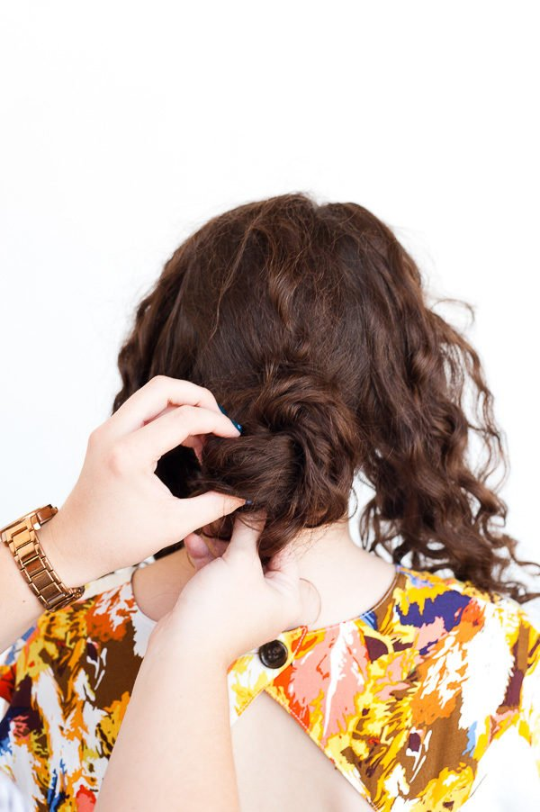 A Rope Twist Updo for Curly Hair (in 5 Minutes)