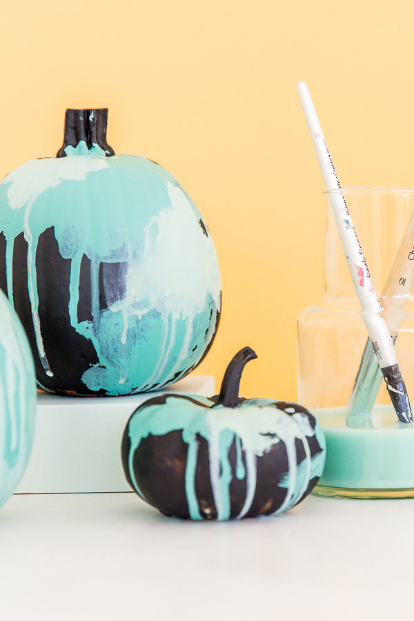 No-Carve Watercolor Pumpkins for Halloween