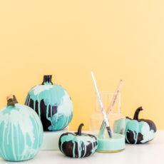 Quick or Treat: DIY No-Carve Watercolor Pumpkins for Halloween