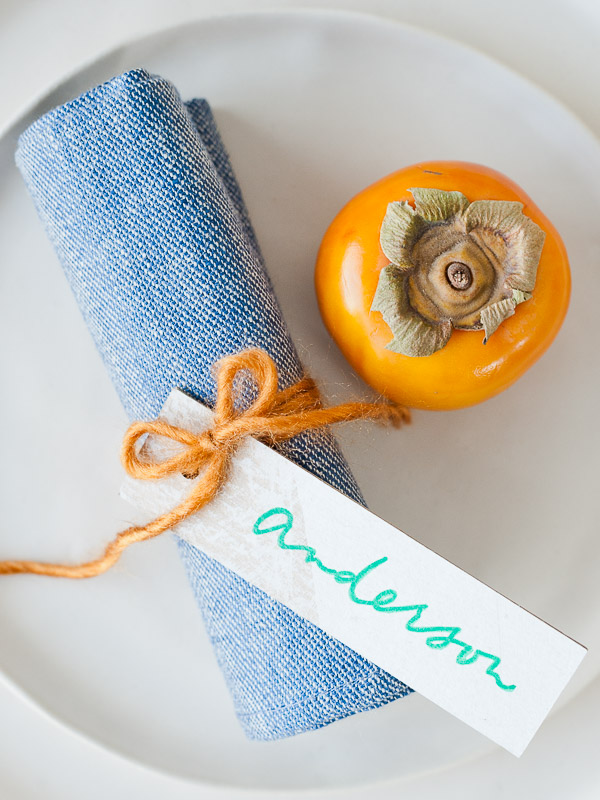 Denim upcycled napkins DIY for Thanksgiving and beyond