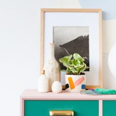 Oh, Make Me Over: A Mid-Century Entryway Table Makeover For Fall