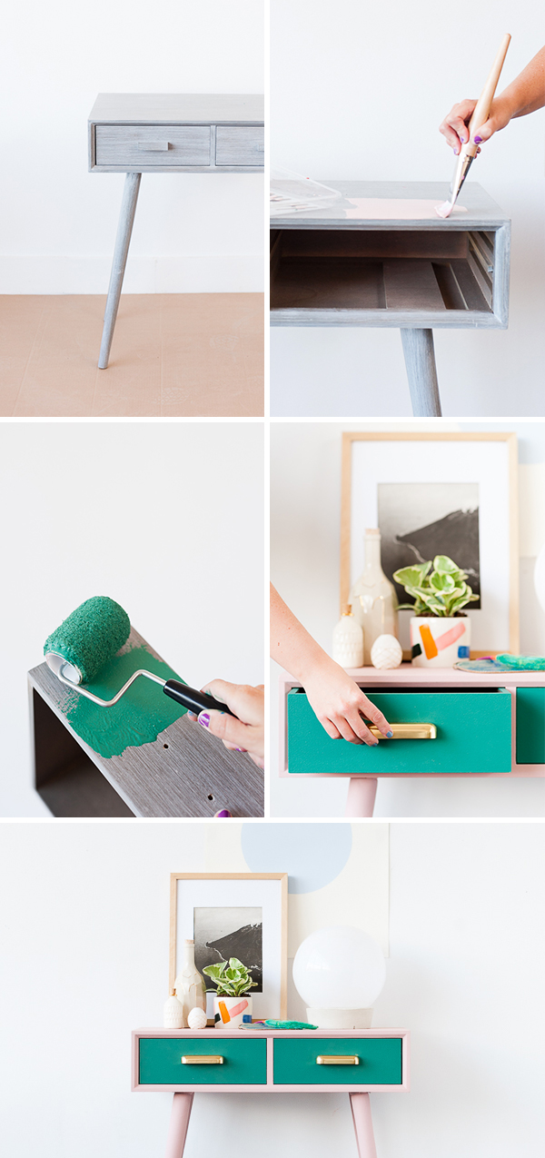 How to makeover a mid-century entryway table