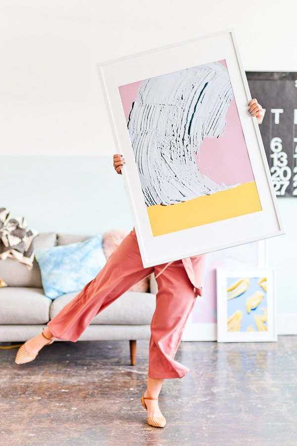 Love this abstract art print (click through to download all 4 options)
