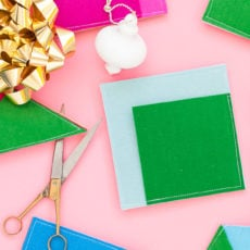 Color Blocked Gift Wrap: Sewn Felt DIY Pouches