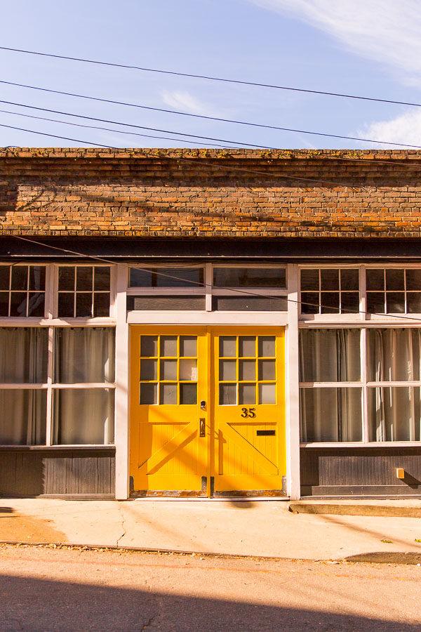 Yellow doors!