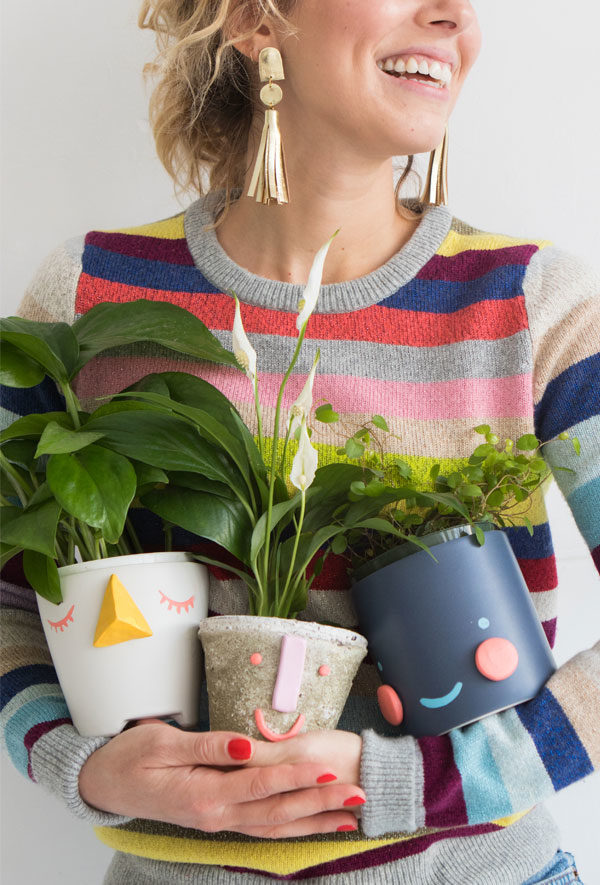 DIY face planters from Oh Happy Day (and 40+ other DIY holiday gift ideas that don't suck)