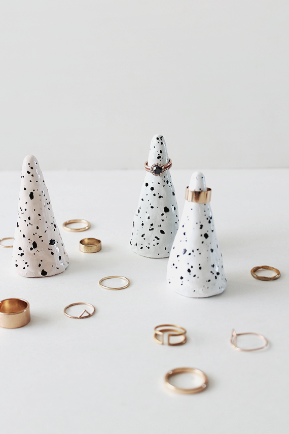 faux ceramic ring cone from Almost Makes Perfect (and 40+ other DIY holiday gift ideas that don't suck)