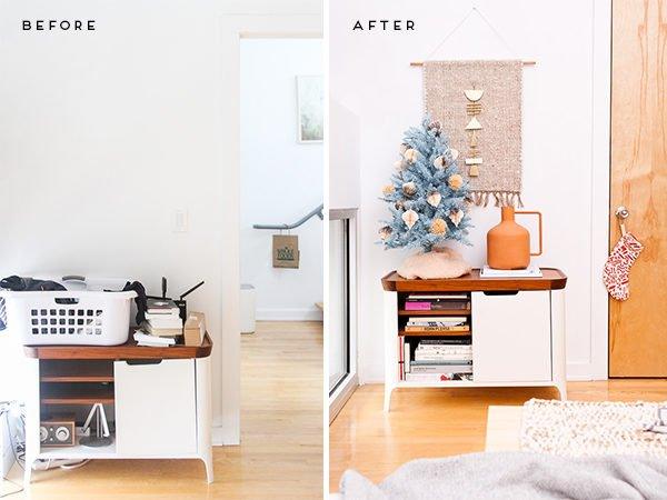 A modern eclectic guest bedroom reveal, with a touch of the holidays.