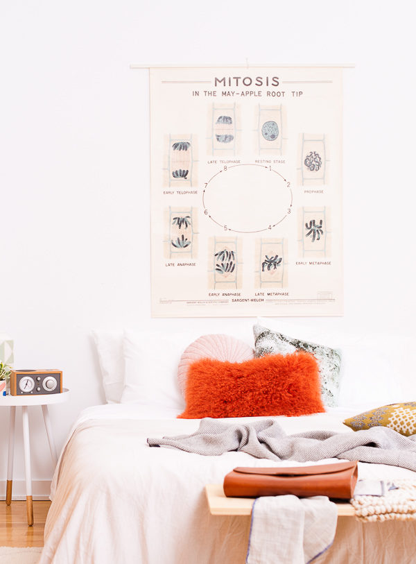 A modern eclectic guest bedroom reveal, styled by Brittni Mehlhoff of Paper & Stitch