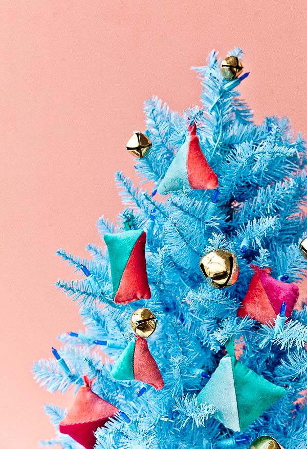 Color Blocked (Christmas) Vibes: How to Make DIY Velvet Ornaments