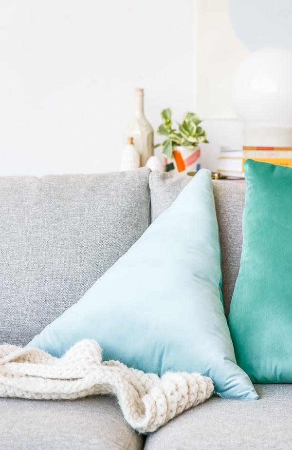 How to Make Velvet, Geometric Color Blocked Pillows