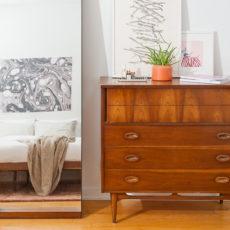 A Minimal Mid-Century Master Bedroom Makeover