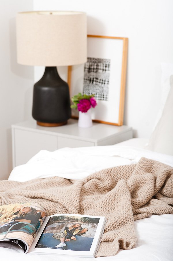 Cozy textiles in the bedroom