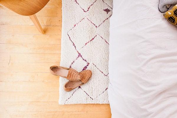 Handmade Moroccan Rug // Guest Bedroom Reveal