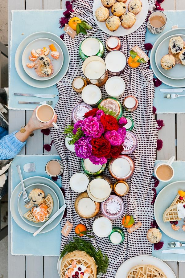 An outdoor winter party on the roof (with DIY entertaining ideas)