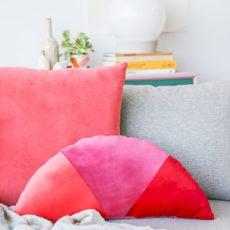 Shape Up: How to Make Velvet, Geometric Color Blocked Pillows
