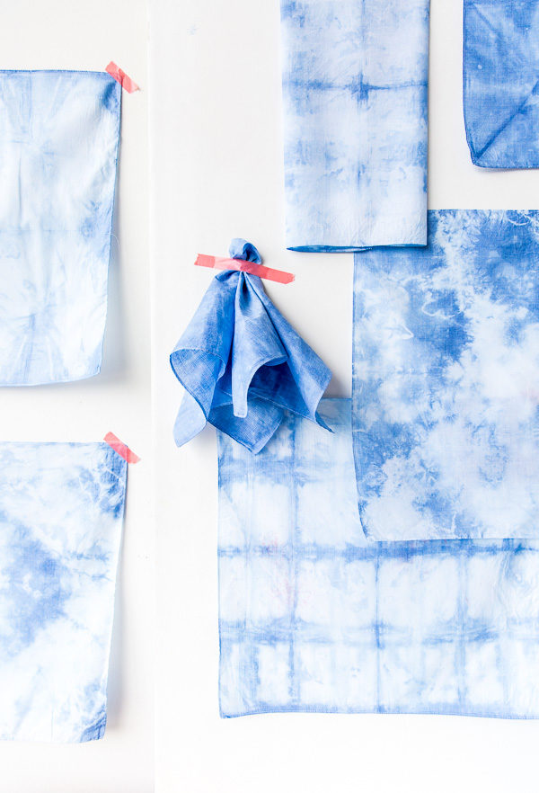 shibori hankies gift idea for guys (and 40+ other DIY holiday gift ideas that don't suck)