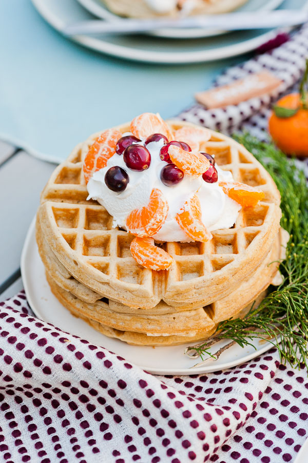 Winter spiced waffles recipe