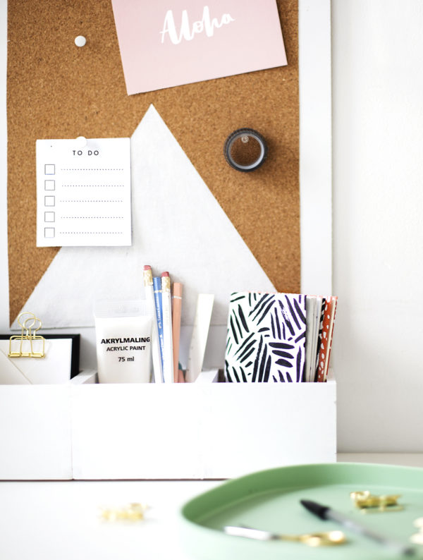 17 Ways to Organize Your Life for the New Year: DIY Desk Organizer