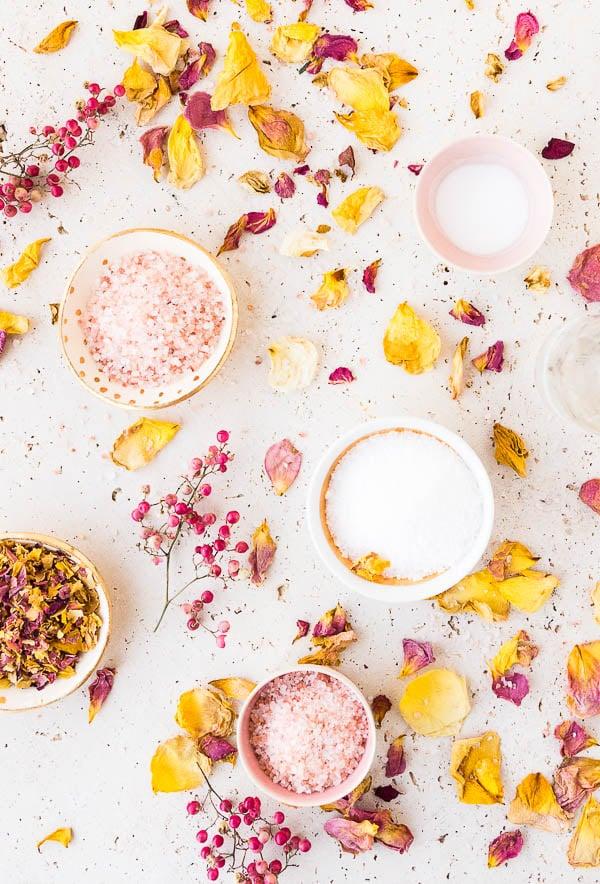 How to make rose petal bath salts