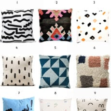 Pillow Talk: 12 Pillows to Cheer up your Couch