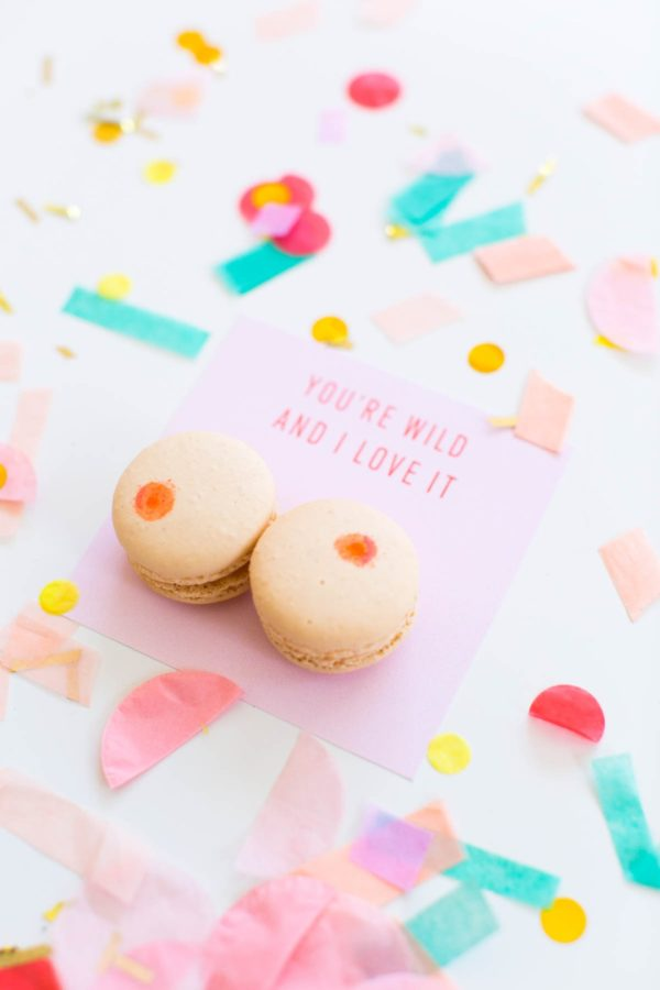 DIY boob macarons for Valentine's Day are what you've been missing in your life.