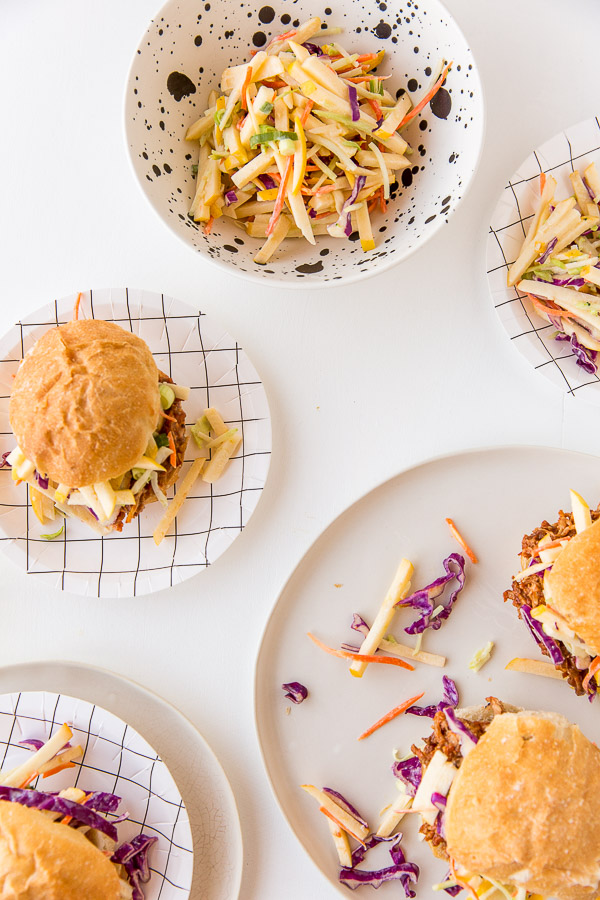 A sweet and crunchy apple coleslaw recipe (two ways)