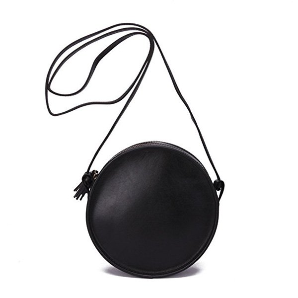 Blush leather circle bag from Mansur Gavriel – The priciest of the circle  bags.