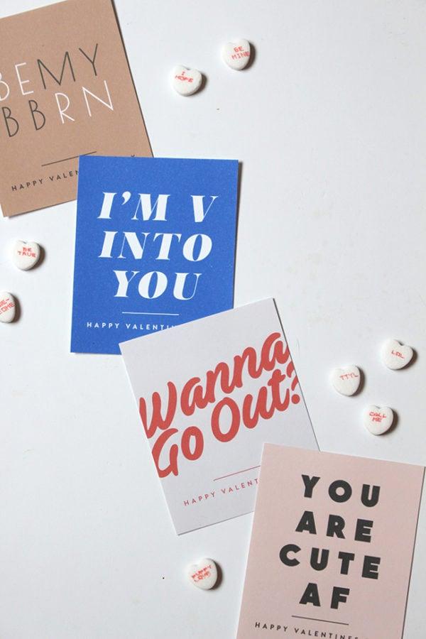 Cool Valentine's Day printables