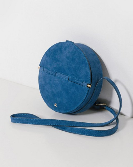 This suede blue circle bag from Rachel Comey is perfect year round.
