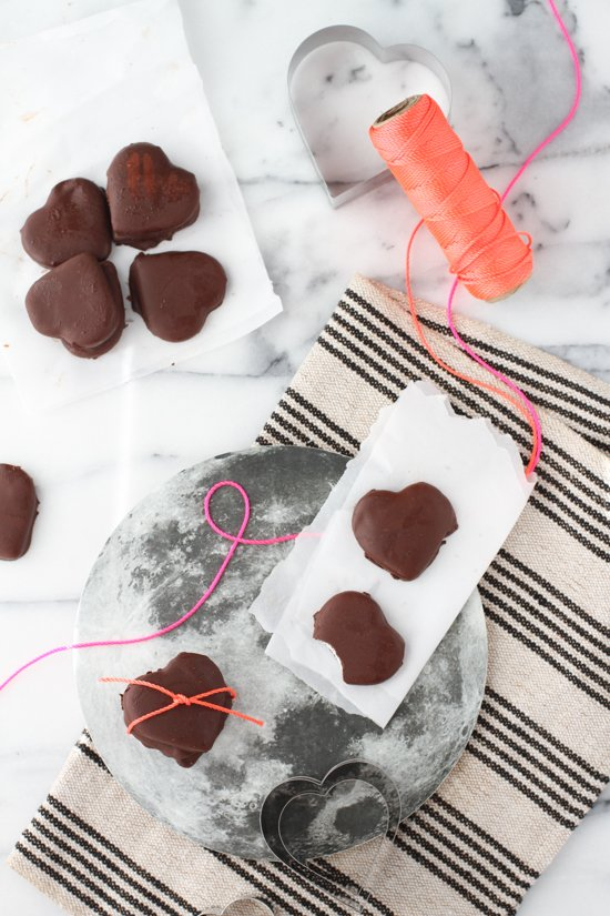 Try these heart shaped (organic) peppermint patties for Valentine's Day.