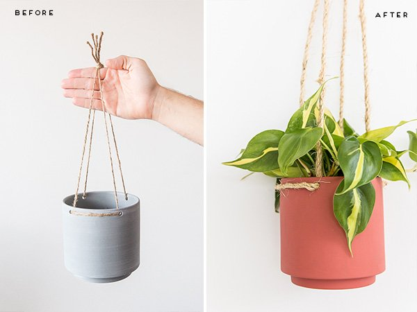 This hanging planter DIY is actually a $5 Target hack! Click through for tutorial.